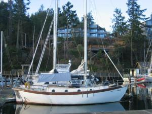 Westsail 32 and moorage site 063