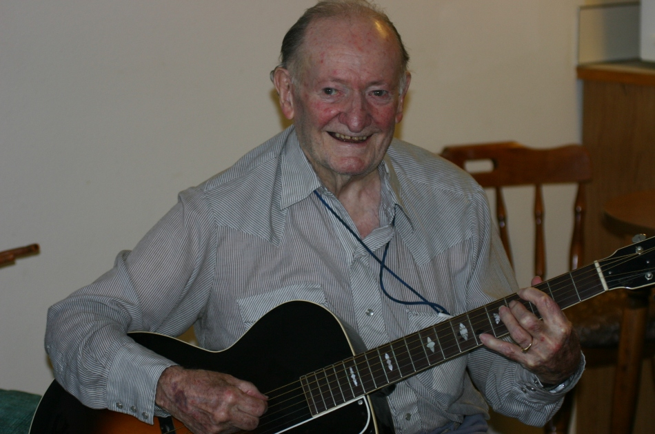 Pappy and his Gibson guitar